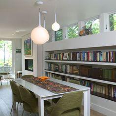 BOOKSHELVES Edgy guest house - modern - dining room - boston - Knight Associates