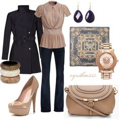 Taupe and Navy, created by cynthia335