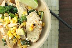 Chicken Spinach and Corn-Sauté--new and simple recipe idea! #chicken #spinach #corn #recipe