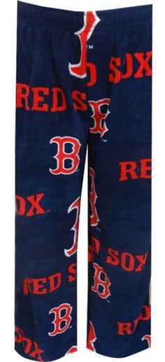WebUndies.com Boston Red Sox Mens Super Soft Fleece Lounge Pants