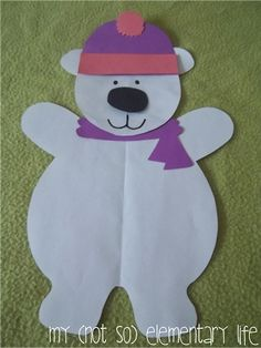 Polar Bear Unit: Includes a craft and supplemental activities and materials to help guide your instruction on Polar bears penguinspolar bear, winter art, animals, polar bears, bear craft, antarctica craft, bear unit, paper crafts, kid craft