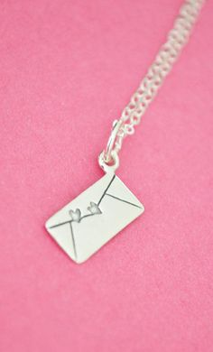 Sterling Silver Necklace with envelope