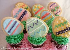 Easter cupcakes.