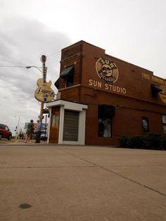 The world famous Sun Recording Studio,in Memphis,Tenn.where Elvis and Johnny Cash got their start.