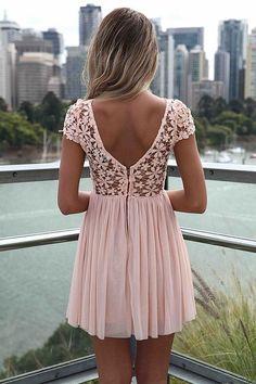 pretty pink lace & low back