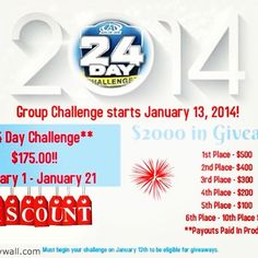 Lose 10-12 Pounds, 12-14 Inches, and Win $$CASH$$!!! Join our largest 24 Day Group Challenge ever!  AdvoAdvance.com