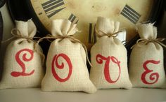burlap, sacks, valentine day, coffee beans, diy valentine's day, bag, party crafts, craft ideas, valentine party