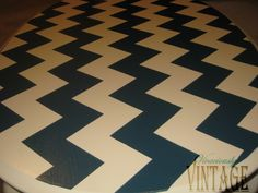 Vivaciously Vintage: How to Paint Chevron Stripes