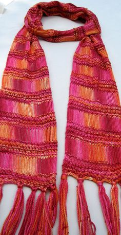 I'm absolutely in love with this drop stitch beaded scarf.