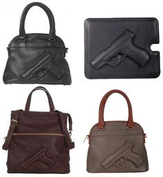 """In case you need a purse that says, """"Back Off!""""... available in knives and handcuffs too!"""