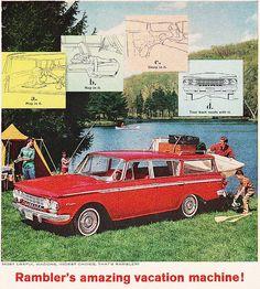 """""""Rambler's Amazing Vacation Machine"""": 1962 Rambler Station Wagon."""