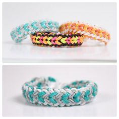 Rainbow Loom Small Basket Weave - Teal Waves loom bracelet rainbow, new rubber band bracelets, basket weav, diy rainbow loom bracelets, rubber band bracelets diy, rainbow loom loom, small basket, rainbow loom colors, loom band bracelets design