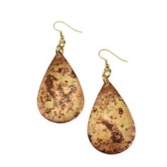 Amazon.com: John S Brana Red Patinated Copper Tear Drop Earrings: Jewelry