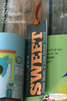 Jillee Bean and the One Good Thing - Printable Bookmark - Todays Creative Blog