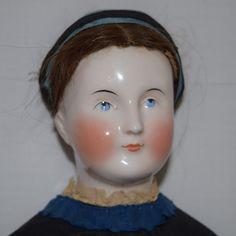 JOAN AND LYNETTE ANTIQUE DOLLS on Ruby Lane http://www.rubylane.com/item/394302-LG14166/Antique-Kestner-German-Glazed-Porcelain-China #china #antiquedoll