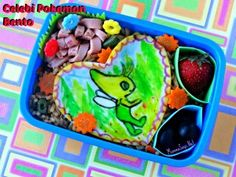 Celebi Pokemon Bento - Cheese Painting!
