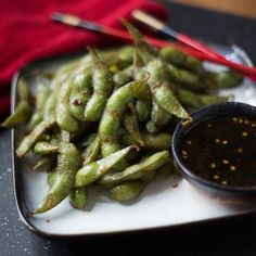 Sweet and Spicy Soy Glazed Edamame HealthyAperture.com