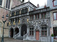 Basilica of the Holy Blood, 12th century, in Bruges, Belguim