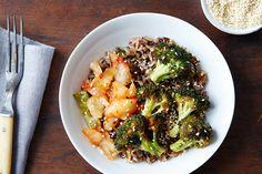 Warm Kimchi Rice Bowl with Sriracha Broccoli  on Food52