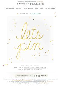 Anthropologie animated GIF email design