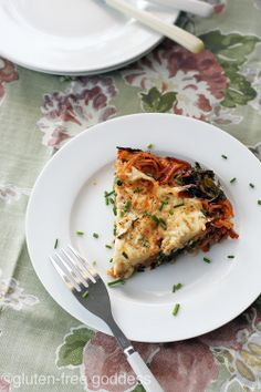 Gluten-Free Pasta Frittata with Kale (Dairy-Free)