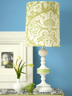 painted lamp shades on pinterest spray paint lamps paint lampshade. Black Bedroom Furniture Sets. Home Design Ideas