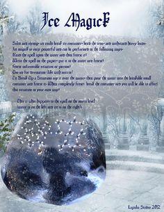 Magick Spells:  Ice Magick #Spell.