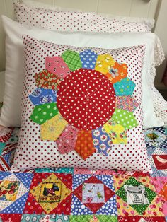 June 8,2014 finished this Dresden pillow today! I hand quilted the top with DMC8 thread.