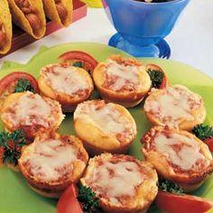 Kid friendly mini pizzas! Easy for kids to make.