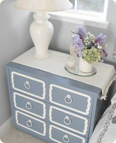 repainted furniture...would do white with gold