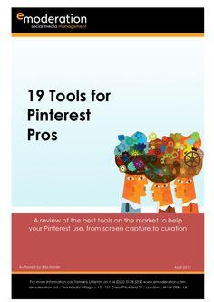 9 #Pinterest Tools by eModeration via Slideshare