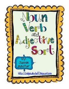 FREE Noun, Verb, and Adjective Sort
