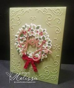 Stampin' Up! Wondrous Wreath by Melissa Davies @ rubberfunatics - FREE PREVIEW WEEK continues - Details are on my blog!