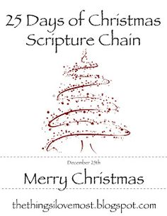 25 Days of Christmas Scripture Chain