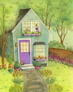 Sleepy little house in the garden