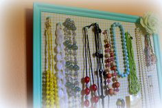 Jewelry Organizing Board
