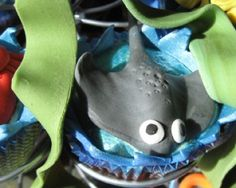 ocean-themed cupcakes