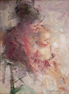 Carolyn Anderson, Figurative, Oil Painting, Mother and Child