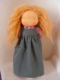 organic waldorf doll 16 inch with blond hair by eszterlanc8, $180.00