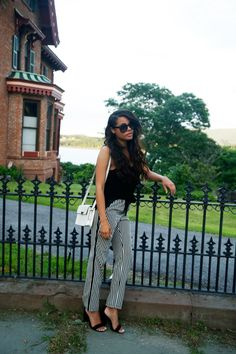 Erica Lavelanet in her KC Brody Patterned Slouch Pant