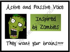 Active and Passive Voice with Zombies PowerPoint from MasteringMiddleSchool on TeachersNotebook.com -  (9 pages)  - Teach your students the difference between active and passive voice using zombies.  This PowerPoint activity will help your students learn to identify the difference.