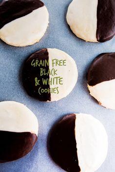 Grain Free Black and White Cookies! (Gluten/ Nut & Dairy Free) by @RealSustenance http://brittanyangell.com/ #paleo
