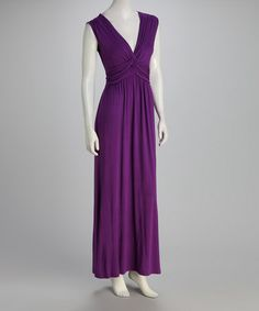 Take a look at this Purple Twisted-Bodice Maxi Dress by Modern Touch on #zulily today!