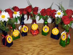 """Spray bottle vase for end of the year. Gift tag reads,  """"Have a cool summer!"""""""