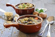 Beef and Barley Soup with Mushrooms @Kim Kelly