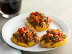 These Grilled Polenta Crackers With Roasted Pepper Salsa are perfect as an appetizer or an afternoon snack.