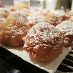My favorite Apple Fritter recipe EVER. These are exactly like ones at the Southington apple festival!