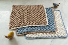 Bobble Crocheted Washcloth from Classic Kitchen Crochet