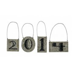 Ring in the New Year by decorating with   with these cute tin number ornaments. Make a garland, add to a wreath or mantle.