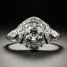 Art Deco Engagement Ring - 10-1-6489 - Lang Antiques